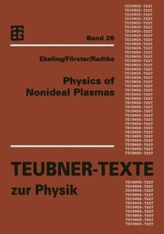 Cover of: Physics Of Nonideal Plasmas