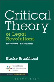 Cover of: Critical Theory Of Legal Revolutions Evolutionary Perspectives