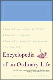 Cover of: Encyclopedia of an ordinary life: volume one