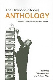 Cover of: The Hitchcock Annual Anthology Selected Essays From Volumes 1015