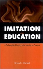 Cover of: Imitation And Education A Philosophical Inquiry Into Learning By Example