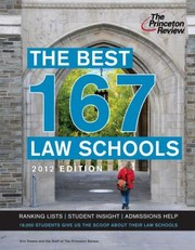 Cover of: The Best 167 Law Schools