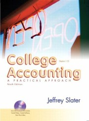 Cover of: College Accounting A Practical Approach Chapters 126
