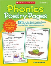 Cover of: Phonics Poetry Pages Grades K2