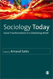 Cover of: Sociology Today Social Transformations In A Globalizing World