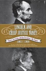 Cover of: Lincoln and Chief Justice Taney