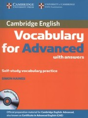 Cover of: Cambridge Vocabulary For Advanced With Answers Selfstudy Vocabulary Practice