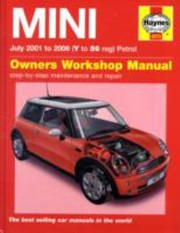Cover of: Mini Petrol Service Repair Manual 2001 To 2006