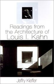 Cover of: Readings from the Architecture of Louis I. Kahn