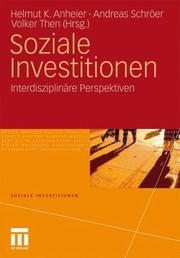 Cover of: Soziale Investitionen Interdisziplinre Perspektiven
