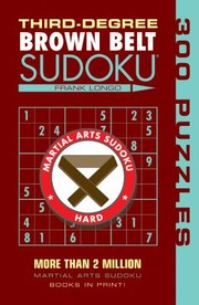 Cover of: Thirddegree Brown Belt Sudoku