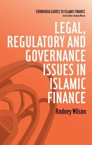 Cover of: Legal Regulatory And Governance Issues In Islamic Finance