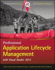 Cover of: Professional Application Lifecycle Management With Visual Studio 2013