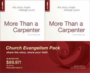 Cover of: More Than A Carpenter Church Evangelism Pack