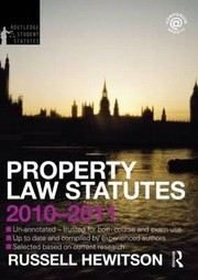 Cover of: Property Law Statutes 20102011