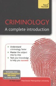 Cover of: Criminology A Complete Introduction