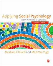 Cover of: Applying Social Psychology From Problems To Solutions