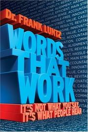 Cover of: WORDS THAT WORK