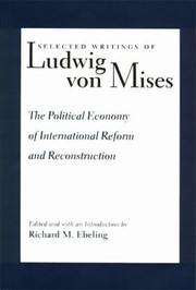 Cover of: The Political Economy Of International Reform And Reconstruction