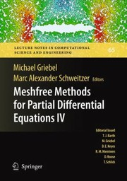 Cover of: Meshfree Methods For Partial Differential Equations Iv