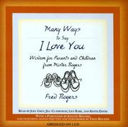 Cover of: MANY WAYS TO SAY I LOVE YOU
