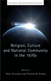 Cover of: Religion Culture And National Community In The 1670s