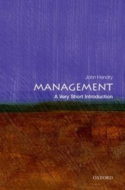 Cover of: Management A Very Short Introduction