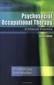 Cover of: Psychosocial Occupational Therapy | Elizabeth Cara