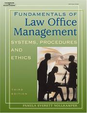 Cover of: Fundamentals of law office management