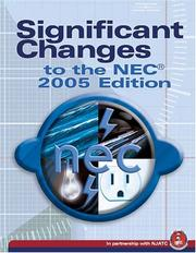 Cover of: Significant Changes to the NEC