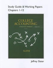 Cover of: College Accounting Study Guide Working Papers Chapters 112