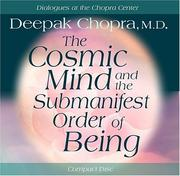 Cover of: The Cosmic Mind and Submanifest Order of Being