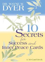 Cover of: 10 Secrets for Success and Inner Peace Cards