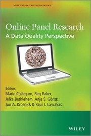 Cover of: Online Panel Research A Data Quality Perspective
