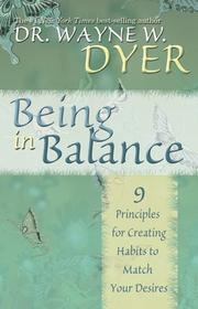 Cover of: Being in Balance