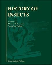 Cover of: History of Insects |