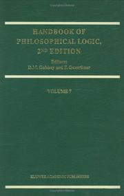 Cover of: Handbook of Philosophical Logic |