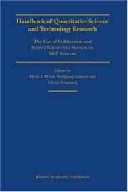Cover of: Handbook of quantitative science and technology research