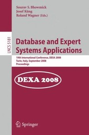 Cover of: Database And Expert Systems Applications 19th International Conference Dexa 2008 Turin Italy September 15 2008 Proceedings