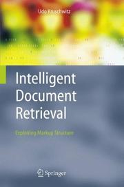 Cover of: Intelligent Document Retrieval