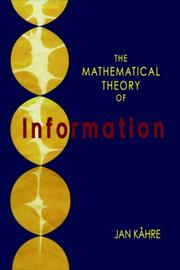 Cover of: The Mathematical Theory of Information