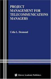 Cover of: Project Management for Telecommunications Managers
