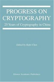 Cover of: Progress on Cryptography