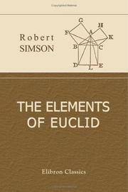 Cover of: The Elements of Euclid
