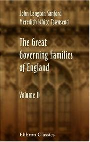 Cover of: The Great Governing Families of England