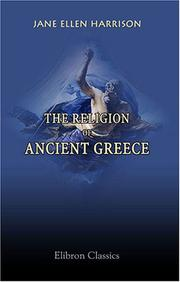 Cover of: The religion of ancient Greece