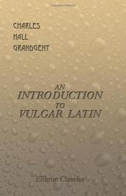 Cover of: An Introduction to Vulgar Latin