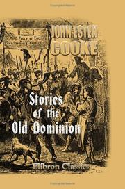 Cover of: Stories of the Old Dominion | John Esten Cooke
