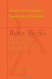 Cover of: Higher Algebra