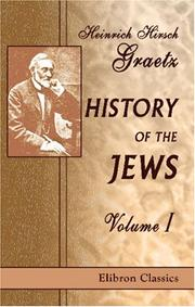Cover of: History of the Jews | Heinrich Hirsch Graetz
